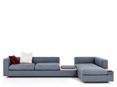 Divano modulare in tessuto con chaise longue CAMIN REVISITED