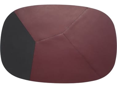 Handmade oval tanned leather rug CAMPO