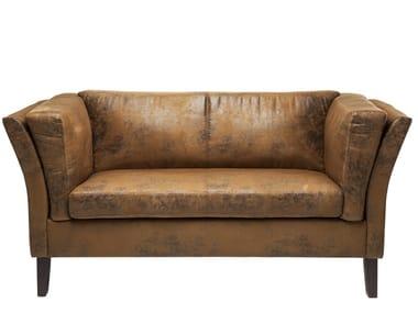 2 seater leather sofa CANAPEE VINTAGE ECO | 2 seater sofa
