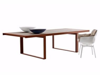 Rectangular porcelain stoneware garden table CANASTA '13 | Table