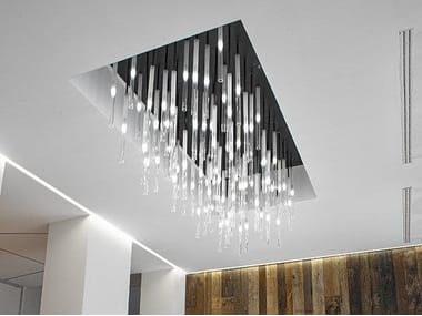 Glass pendant lamp CANDLE | Pendant lamp