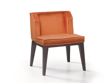 Upholstered fabric easy chair CANDY