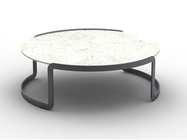 Low round cement coffee table CANESTER