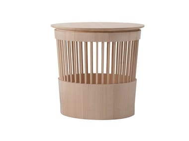 Solid wood stool / storage box CANESTRO