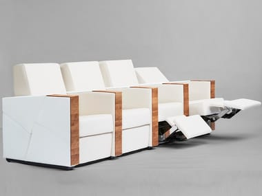 Sectional leather Cinema armchair with motorised functions CANNES | Sectional Cinema armchair