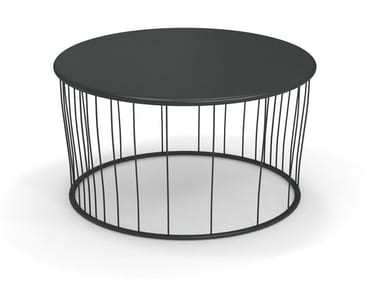 Round steel garden side table CANNOLÈ | Coffee table