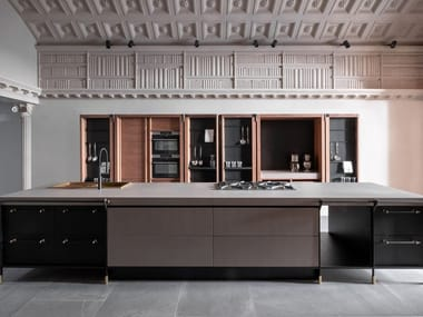Wooden and stone fitted kitchen CANOSSA
