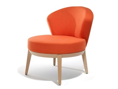 Upholstered fabric easy chair CANTO | Easy chair