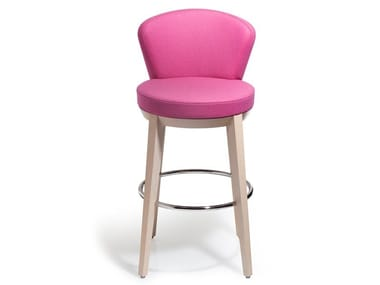 Swivel upholstered stool CANTO | Stool with back