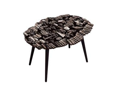 Table basse ovale en HPL & Hêtre CANYON CRISTAL WENGE