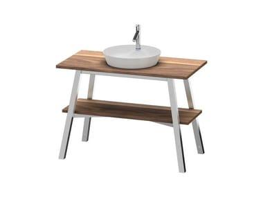 Mobile lavabo in legno massello CAPE COD |  Mobile Noce americano