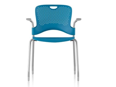 Stackable Nylon® chair with armrests CAPER | Chair with armrests