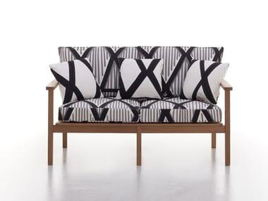 2 seater iroko garden sofa CAPRI | 2 seater garden sofa