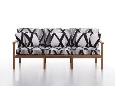 3 seater iroko garden sofa CAPRI | 3 seater garden sofa
