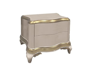 Lacquered bedside table with drawers CAPRI   Bedside table