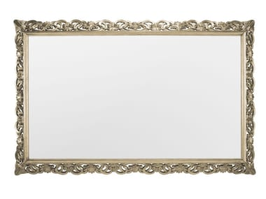 Rectangular wall-mounted mirror with built-in speakers CAPRI TV