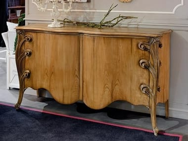 Cherry wood sideboard with doors CAPRICCI | Cherry wood sideboard