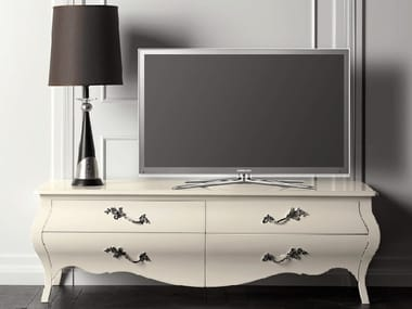 Lacquered cherry wood TV cabinet CAPRICCI | TV cabinet