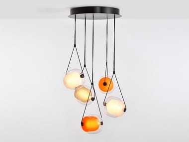 LED blown glass pendant lamp CAPSULA