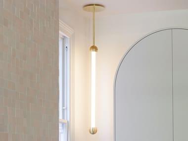 LED powder coated aluminium pendant lamp CAPSULE ALAS