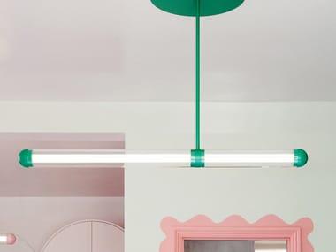 LED powder coated aluminium pendant lamp CAPSULE SALDO