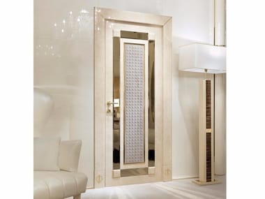 Hinged lacquered wooden door CARACTERE | Door