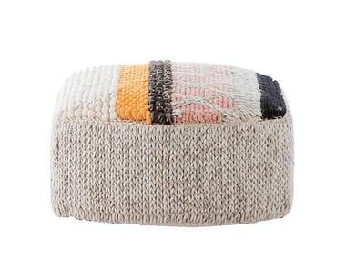 Wool pouf CARAMELO | Pouf