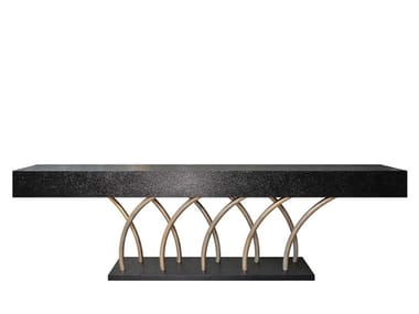 Rectangular MDF console table CARAVEL