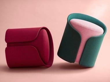 Round fabric pouf CARDIGAN