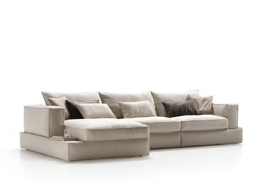 Sectional fabric sofa with chaise longue CARESSE | Sofa with chaise longue