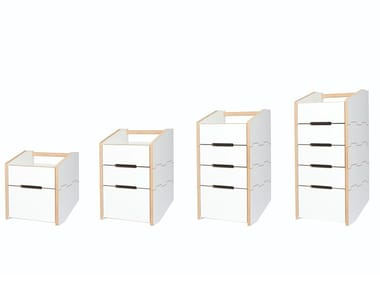 Sectional MDF chest of drawers CARGO