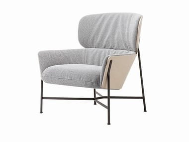 Fabric armchair with armrests CARISTO | Fabric armchair