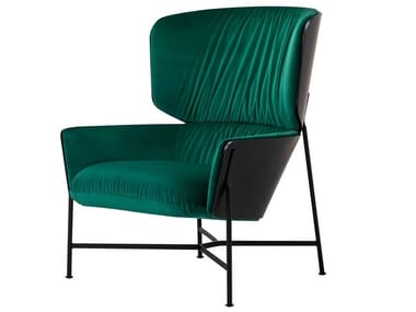 High-back fabric armchair CARISTO | High-back armchair