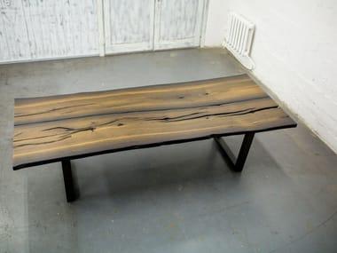 Rectangular bog oak dining table CARLOS