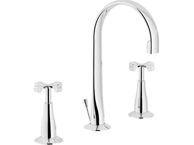 Robinet pour lavabo 3 trous à poser CARLOS PRIMERO | Robinet pour lavabo