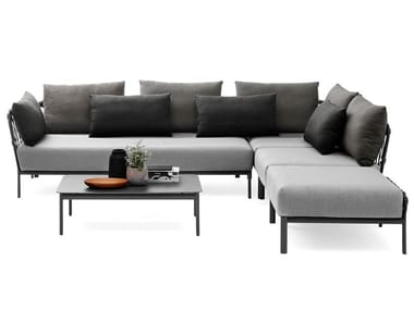 Corner sectional garden sofa CARO | Corner garden sofa