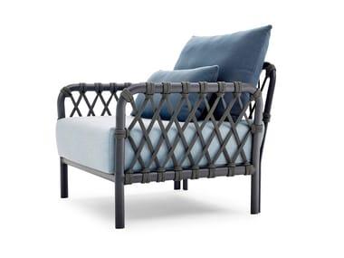 Garden armchair with armrests CARO | Garden armchair