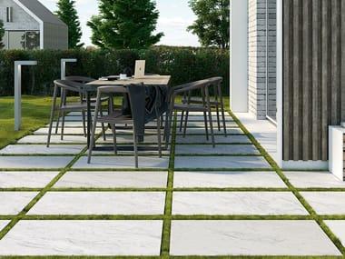 Pavimento per esterni in gres porcellanato effetto marmo CARRARA EFFECT