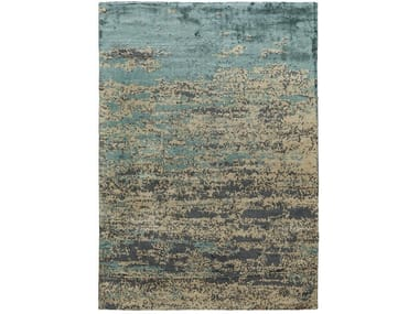 Patterned rectangular silk rug CARRARA