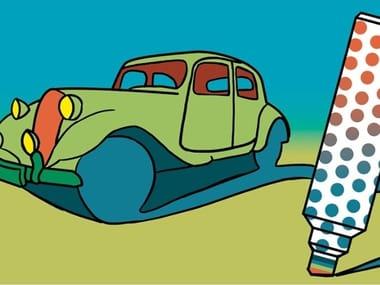 Carta da parati adesiva pop art CARS