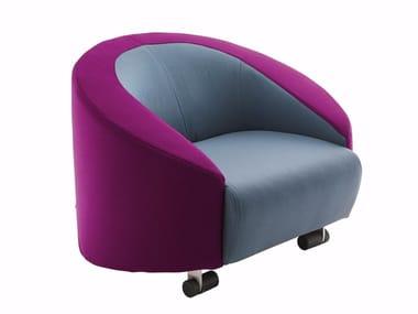Fabric armchair with armrests CART | Armchair