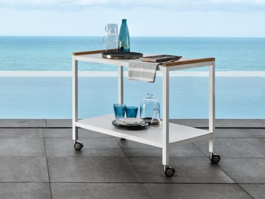 Aluminium garden trolley Food trolley