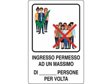 Cartellonistica CARTELLO INGRESSO MINIMO