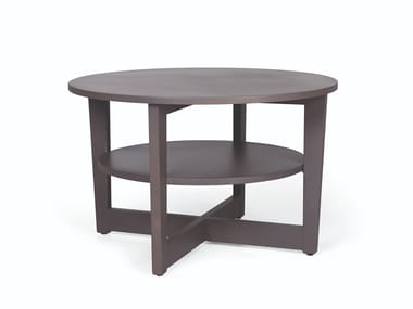Round wooden coffee table CARTER 100