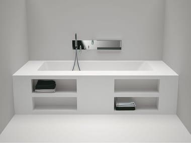 Rechteckige Einbau- Badewanne aus Cristalplant® CARTESIO   Einbau- Badewanne