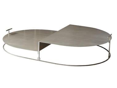 Low steel coffee table CARTESIO | Low coffee table