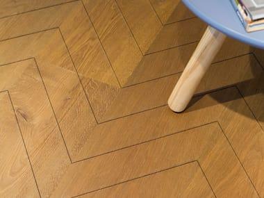 Oak flooring CARVING CHEVRON I - VULC. MEDIUM NATURAL