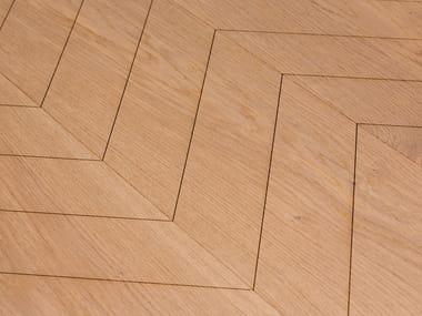 Oak flooring CARVING CHEVRON I - VULC. MEDIUM WHITE