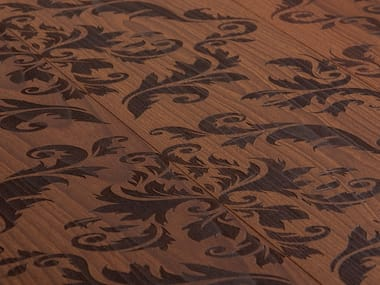 Beech wall/floor tiles CARVING EMPIRE I - BRUSHED/NATURAL