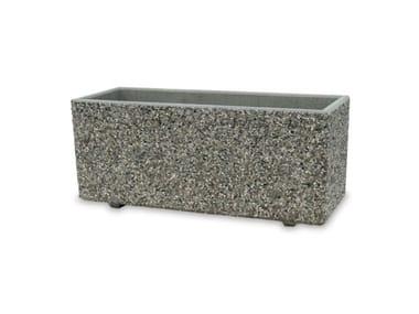Fioriera realizzata in conglomerato di marmo e cemento CASABLANCA